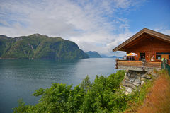 Norwegian Fjords. Trekking in the mountain Royalty Free Stock Image
