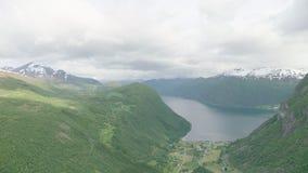 Norwegian Fjords stock video footage