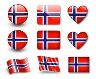 The Norwegian flag Stock Image