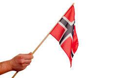 Norwegian flag. Stock Image