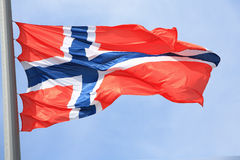 Norwegian flag Stock Photos