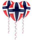 Norwegian flag balloon. S on white background royalty free stock images