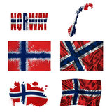 Norwegian flag collage Stock Photography