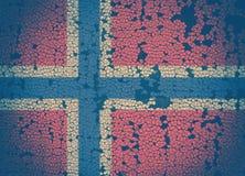 Norwegian flag. On cracked background Royalty Free Stock Image