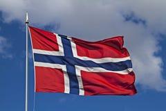 Norwegian flag Royalty Free Stock Photography