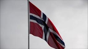 Norwegian Flag stock video