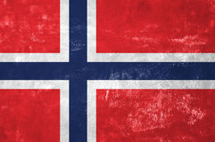 Norwegian Flag on Old Grunge Texture Background. Norway - Norwegian Flag on Old Grunge Texture Background stock photography