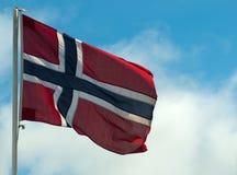 Norwegian Flag. A Norwegian Flag in the wind Stock Image