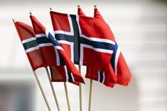Norwegian Flags Royalty Free Stock Photo