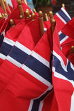 Norwegian flags Stock Photography