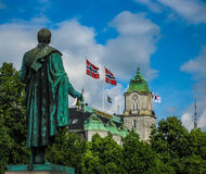 Norwegian flags Stock Images