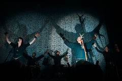 Norwegian folk nordic ethnic band Wardruna performing live at Yotaspace club on February 04, 2017 in Moscow, Russia royalty free stock image