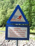 Norwegian funny sign Royalty Free Stock Photo