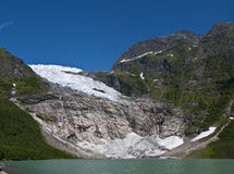 Norwegian glacier Royalty Free Stock Photo
