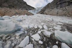 Norwegian glacier Jostedalsbreen Stock Images