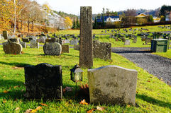 Norwegian graveyard of houses Royalty Free Stock Photo