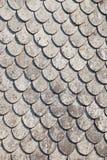 Norwegian grey roof tiles Royalty Free Stock Image