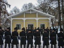 Norwegian Guardsmen in the snow Stock Image