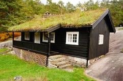 Norwegian guest house, Norway. Norwegian  guest house in Kragero kommune in South Norway on the bedrocks.  Telemark. Norway Royalty Free Stock Photography