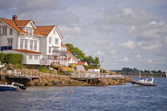 Norwegian harbor Stock Photos