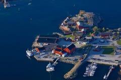 Norwegian harbor Stock Images