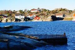 Norwegian harbor fjord Stock Photography