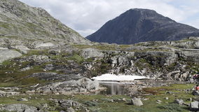 Norwegian highlands. Mountain pool in Fjords of Norway Stock Images