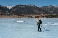 Norwegian hiking skates. Royalty Free Stock Photos