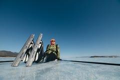 Norwegian hiking skates. Stock Image