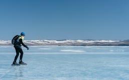 Norwegian hiking skates. Royalty Free Stock Photo