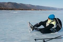 Norwegian hiking skates. Royalty Free Stock Images