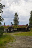 Norwegian holiday house, hytte Stock Photography