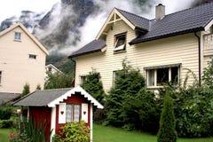 Norwegian house. A typical norwegian house - Lofoten Royalty Free Stock Photos