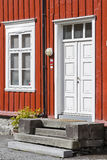 Norwegian house detail Stock Images