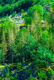 Norwegian house hytte in the mountains Stock Photography
