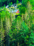 Norwegian house hytte in the mountains Royalty Free Stock Image