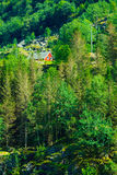Norwegian house hytte in the mountains Royalty Free Stock Photography