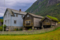 Norwegian house. Royalty Free Stock Images