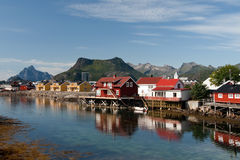 Norwegian houses Royalty Free Stock Image