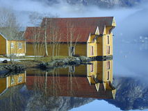 Norwegian houses Stock Photos
