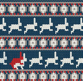 Norwegian knitted pattern Stock Photos