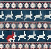 Norwegian knitted pattern Stock Photos