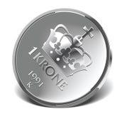 Norwegian krone stock photo