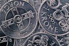 Norwegian krone background. Norwegian krone, close-up shot, money background Stock Photos