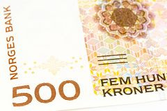 500 norwegian krone banknote obverse royalty free stock images
