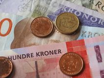 Norwegian Krone notes and coins, Norway Royalty Free Stock Photo