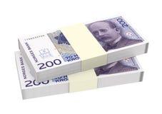 Norwegian krone isolated on white background. Royalty Free Stock Image