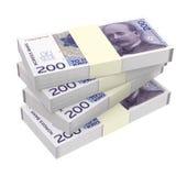 Norwegian krone isolated on white background. Royalty Free Stock Photo
