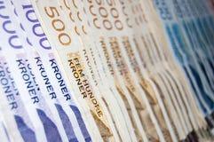 Norwegian kroner currency Stock Photo