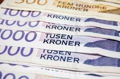 Norwegian kroner currency stock image